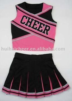 cheerleading uniforms:pink and black color