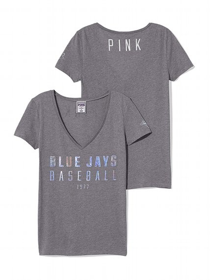 PINK Toronto Blue Jays Fitted V-Neck Tee #VictoriasSecret http://www.victoriassecret.com/pink/toronto-blue-jays/toronto-blue-jays-fitted-v-neck-tee-pink?ProductID=108856=OLS?cm_mmc=pinterest-_-product-_-x-_-x