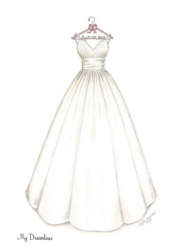 Hochzeitskleid selbst zeichnen
