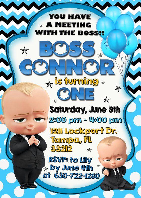 Boss Baby Invitation Boss Baby Birthday Invitation Boss Baby Etsy Baby Birthday Invitations Baby Invitations Baby Birthday Party Invitations