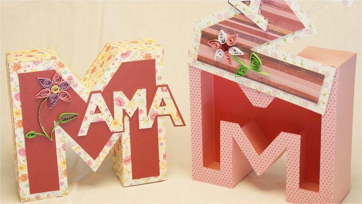 Muttertagsgeschenke basteln: MAMA Geschenkbox / Buchstabenbox zum Mutter...