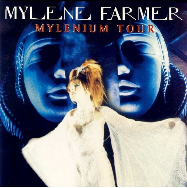 2000 Mylene Farmer - Mylenium Tour (3LP) [(France) Polydor 549440-1] sculpture of Isis on stage: H. R. Giger ; design: Henry Neu #albumcover