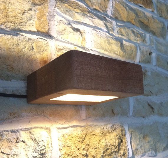 Real Solid Wooden Wall Light Up Lighter Down Light Handmade Wall Lamp Fixture…