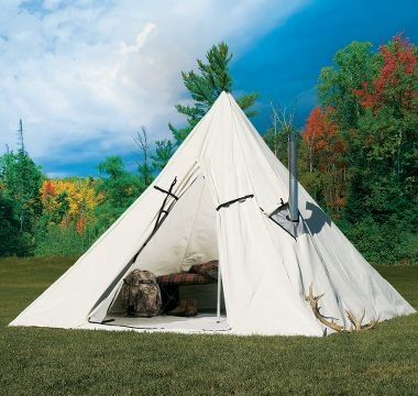 Cabela s outfitter range a frame tent by montana canvas for How to build a canvas tent frame