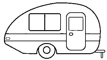Line drawings for Happy Camper Signs
