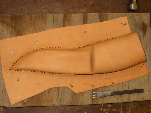 Making a wetted leather knife sheath | Ron's outdoor blog.