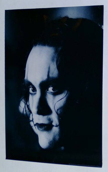 1995 The Crow poster! 30 by 20 inch rare vintage original 1990's Brandon Lee The Crow movie poster pin-up with close-up gothic horror image!