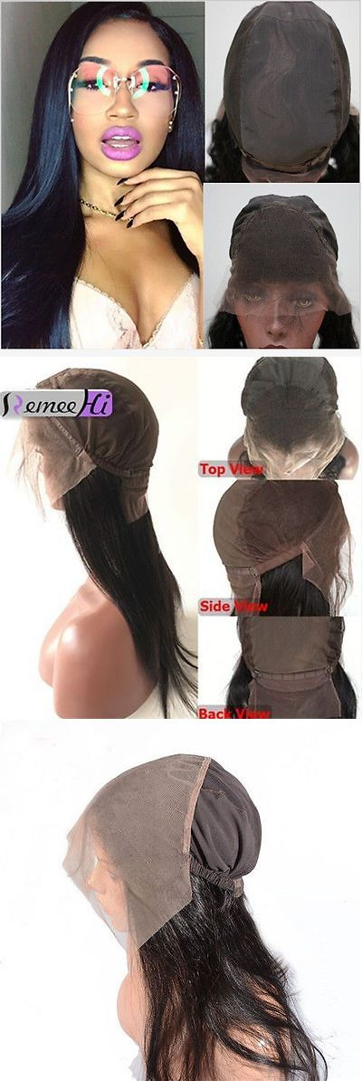 Wig and Extension Supplies: Pre Plucked 360 Lace Frontal With Wig Cap Peruvian Straight Hot Beauty Hair -> BUY IT NOW ONLY: $60 on eBay!