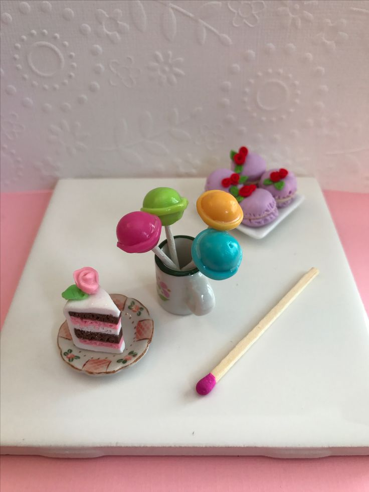 Polymer clay candy and dessert so cute