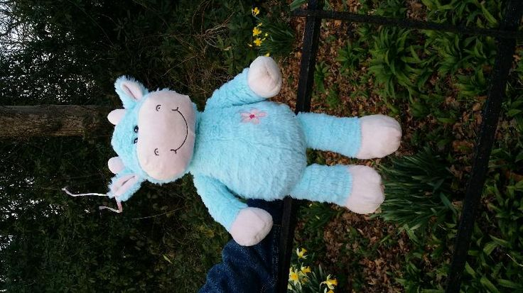 Found on 28/03/2015 @ Roundhay Park, Mansion Lane, Leeds, LS8 2HH. A blue cuddly cow, it has a little ribbon on it's ear as though it's been tied to a pram. It was tied to a fence but we brought it home with us because the park was almost empty by then (around 17:... Visit: https://whiteboomerang.com/lostteddy/msg/x0zfqi (Posted by Emily on 29/03/2015)