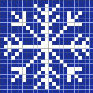 crochet snowflake pixel square