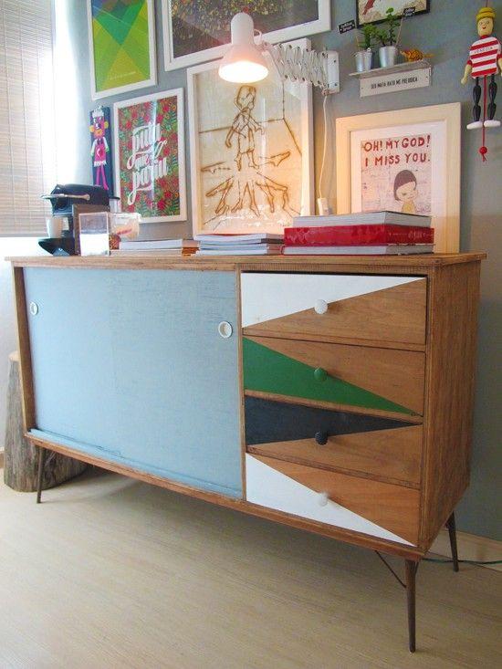 M s de 1000 ideas sobre aparadores pintados en pinterest for Muebles antiguos restaurados antes y despues