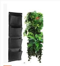 4 lagen pocket verticale groene muur planters aardappel tas verticale tuin planter opknoping bloem zakken diy indoor tuin decoratie(China (Mainland))