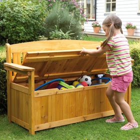 Garden Storage Bench - Perfect for all of those games and balls