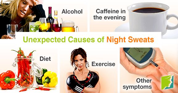 Unexpected causes of night sweats.