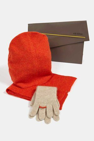 Ring Cashmere Gloves Beige/Sunset