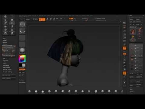 """Hair Sculpt - Etsuko Project - """"Behind the pixel"""" - YouTube"""