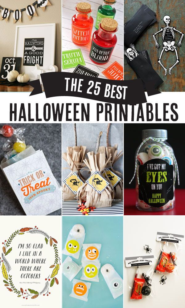 the 25 Best Halloween Printables