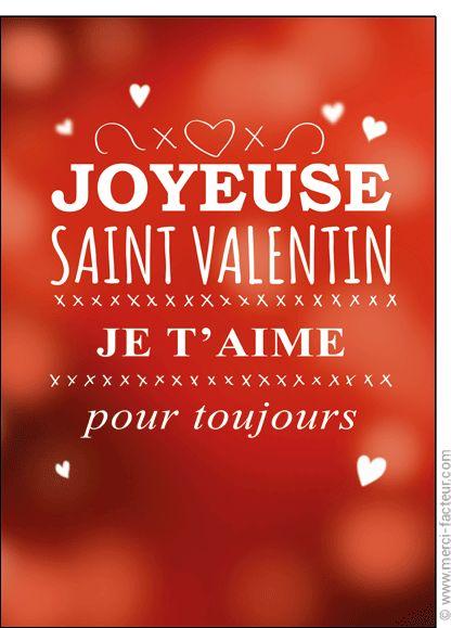 http://www.merci-facteur.com/carte-coeur.html #carte #StValentin #amour #love #Valentinsday #iloveyou #coeur #SanValentin #amor #Jetaime #Tequiero Carte Je t'aime pour toujours pour envoyer par La Poste, sur Merci-Facteur !