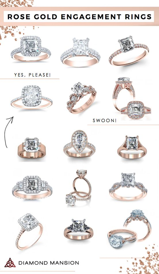 Rose Gold Engagement Rings | Diamond Mansion