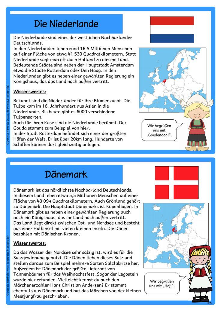 Nachbarstaaten Deutschlands für Grundschule