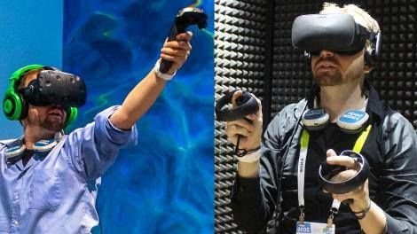 Updated: HTC Vive vs Oculus Rift: which VR headset is better? -> http://www.techradar.com/1301375  Hardware design and controllers  The VR revolution is finally here in 2016. Whether it actually qualifies as a revolution or not the two biggest contenders arrived earlier this year in the form of the HTC Vive and Oculus Rift.   So then the question remains: which one is better? In reality that question is oversimplified. The answer depends on what type of immersive experiences you're looking…