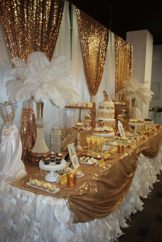 1920 S Great Gatsby Birthday Party Ideas Photo 1 Of 21