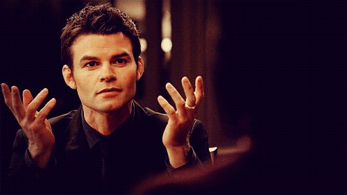 Elijah Mikaelson being all sassy (gif)