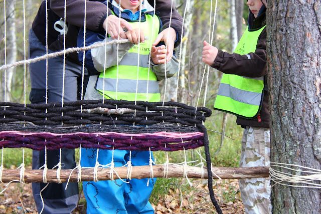 Myrertoppen barnehage: Vev i skogen, del tre
