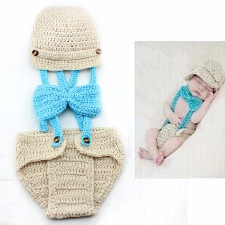 Hat & Bow Tie Blue- Newborn Photo Shoot Props