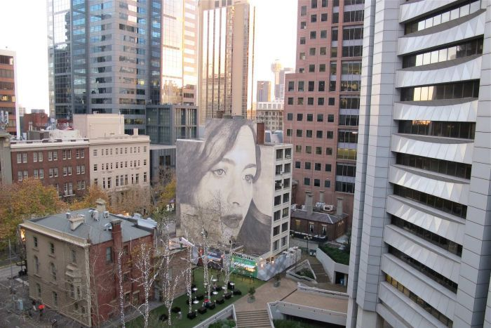 Street art by Rone, Melbourne