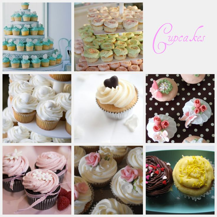 cupcakes. I like the middle one it's simple but cute. I could easily make 50 of those.