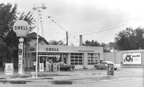 1950s Gas Station | Old Shell Gas Station