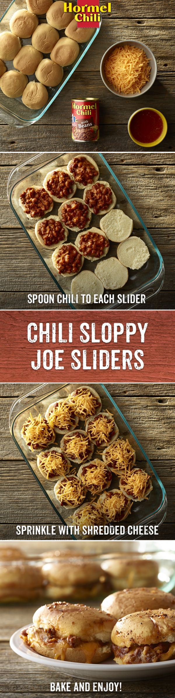 In Chili Nation, it's the size that matters. In this case, it's mini size to satisfy your major craving for HORMEL® Chili. | Chili Recipe | Street Food | Sloppy Joe | Easy Recipe |