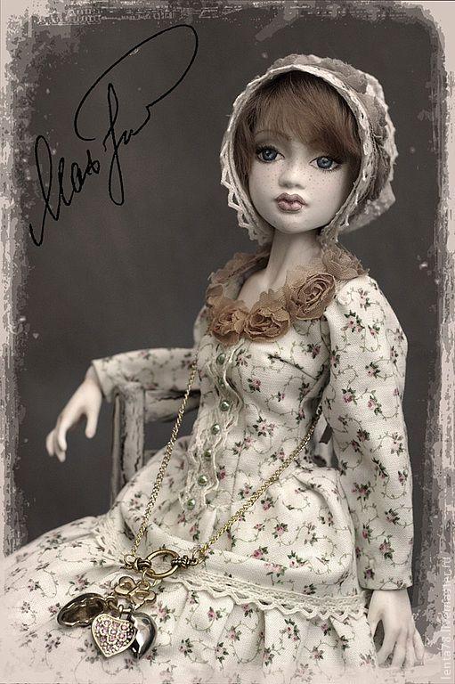 """Купить Шарнирная кукла """"Натали"""" - бежевый, шарнирная кукла, шарнирка, шарнирные куклы, кукла"""