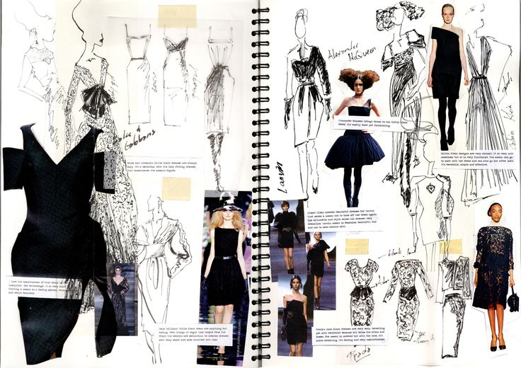 Sketchbook - Little Black Dress: Portfolio. This image will be discussed in our ... 3
