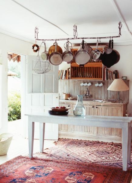 Pots Racks, Pot Racks, Luxury House, Interiors, Rustic Kitchens, Design Kitchen, Farmhouse Kitchens, Rugs, Hanging Pots