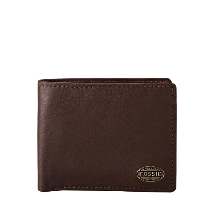 Carteira Fossil Estate Zip Passcase Dark Brown ML3221. ✓