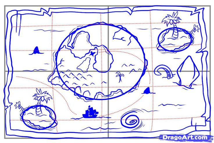 how to draw a map step 5