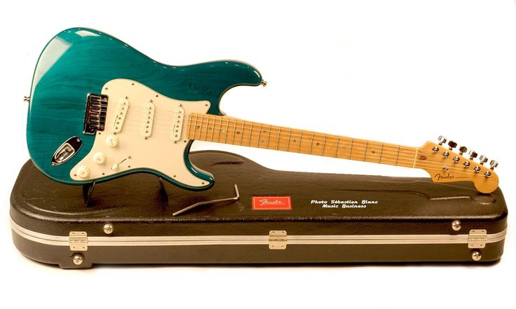 Guitare FENDER American Deluxe Ash Stratocaster Teal Green Transparent Occasion #DZ0073863