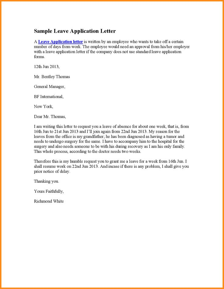 beautiful sample leave application pictures office resume letter - leave application