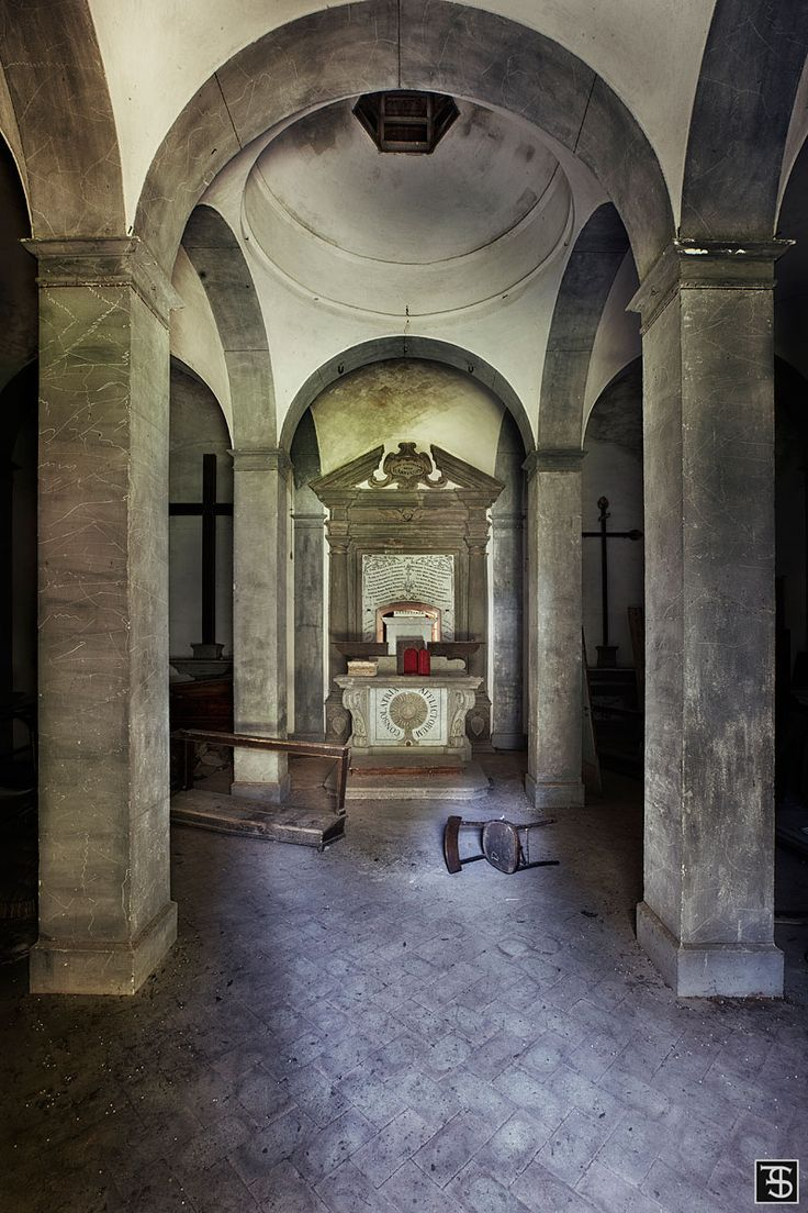 abandoned mausoleum in italy