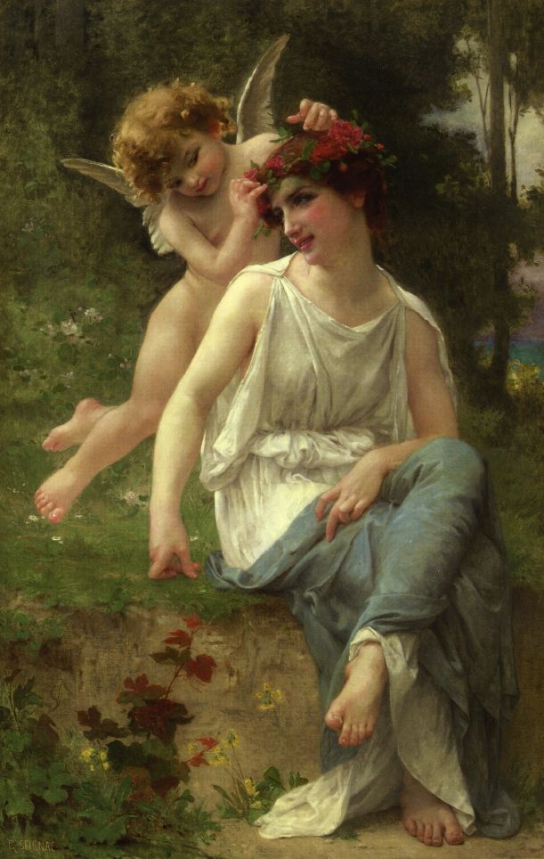 Guillaume Seignac (French 1870–1924) [Academicism] Cupid Adoring a Young Maiden, date unknown. The Athenaeum