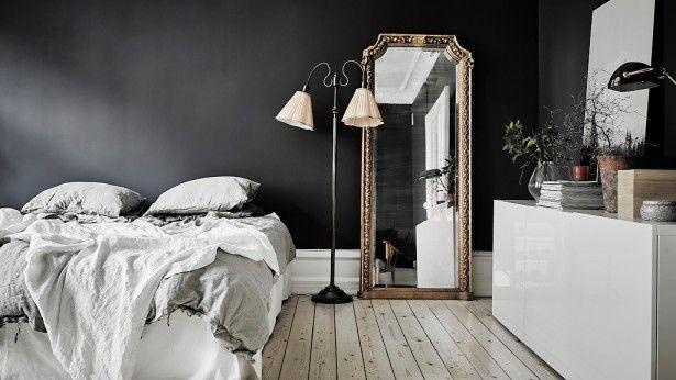 Inspiratieboost: een elegante lange spiegel naast je bed