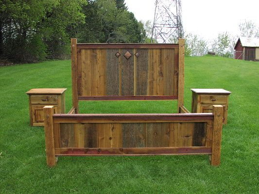 Furniture Rustic Wood Bed Headboards With Mantel Having: 103 Best Images About Barn Wood Ideas On Pinterest