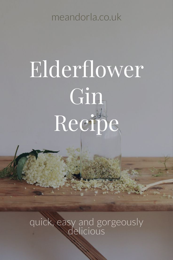 Simple and delicious Elderflower gin Recipe