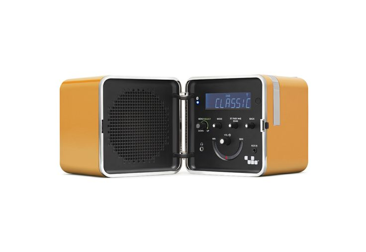 RADIO.CUBO TS522D+ Giallo Sole by Brionvega Collection. #LoudPersonality #bluetooth #dab #remotecontrol #fm #alarmclock #italian #design #radiocubo