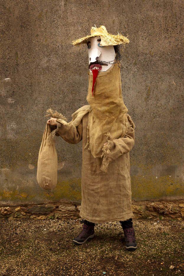 Máscara del Carnaval del Gallo de Mecerreyes, Burgos
