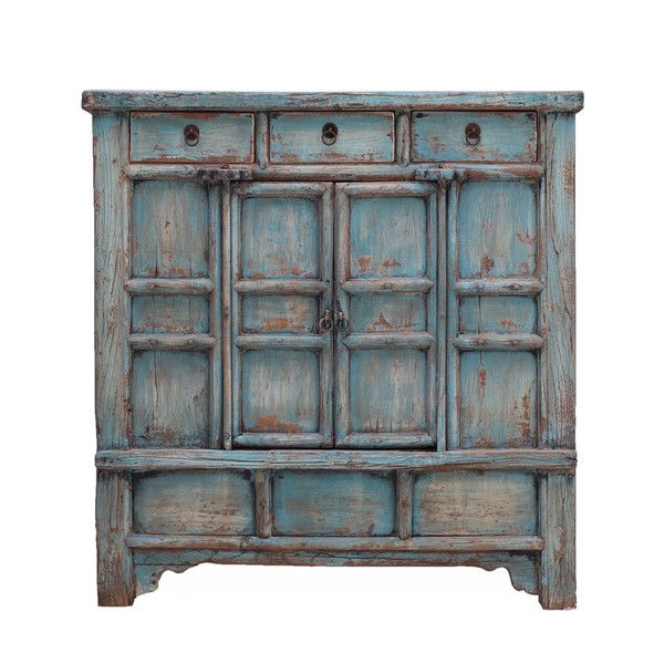 Antique Rustic Blue Cabinet www.theimporter.co.nz