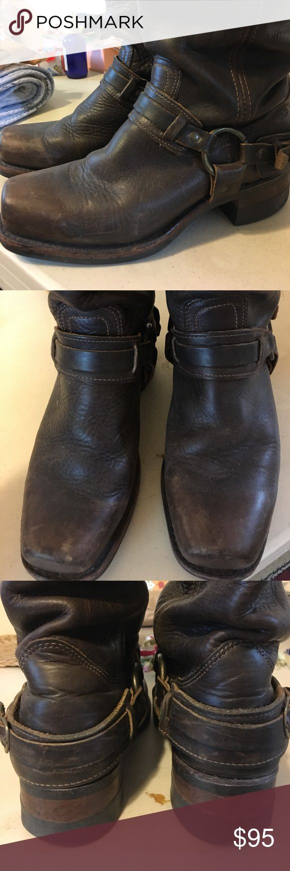 Frye Harness Boots Awesome boots!!! In EUC!!! Frye Shoes Combat & Moto Boots